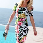 Go Green with green clothes: Capture European Floral Print Dress