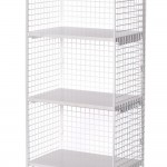 Store your t-shirts or shoes in a wire rack. Search 124890 online.