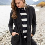 A quick cardigan to pop on anywhere and everywhere. Emerge Drape Cable Cardigan