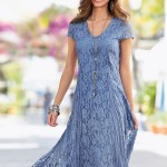 Together Woman Crinkled Lace Dress