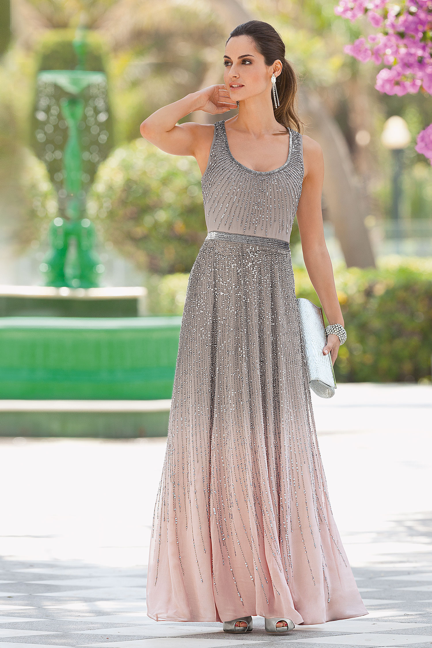 Together Sparkly Beaded Maxi Dress
