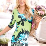 Go Green with green clothes: Capture European Border Printed Tunic