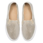 Slip on sneakers in gold (137910)