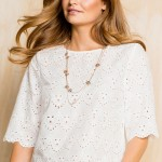 Emerge Broderie Shell Top