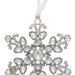 Crystalised Snowflake Ornament Set
