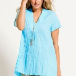 Plus size clothing: This unique Sara Tunic has been crafted in a crinkle light fabric. Style 144720