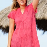 Plus size clothes: This unique Sara Tunic has been crafted in a crinkle light fabric. Style 144720