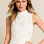 Party fashion: Grace Hill High Neck Lace Top