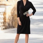 The Little Black Dress - Together Beaded Wrap Dress Style Number: 145562