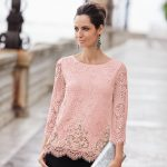 Together Blush Lace Top (145563)