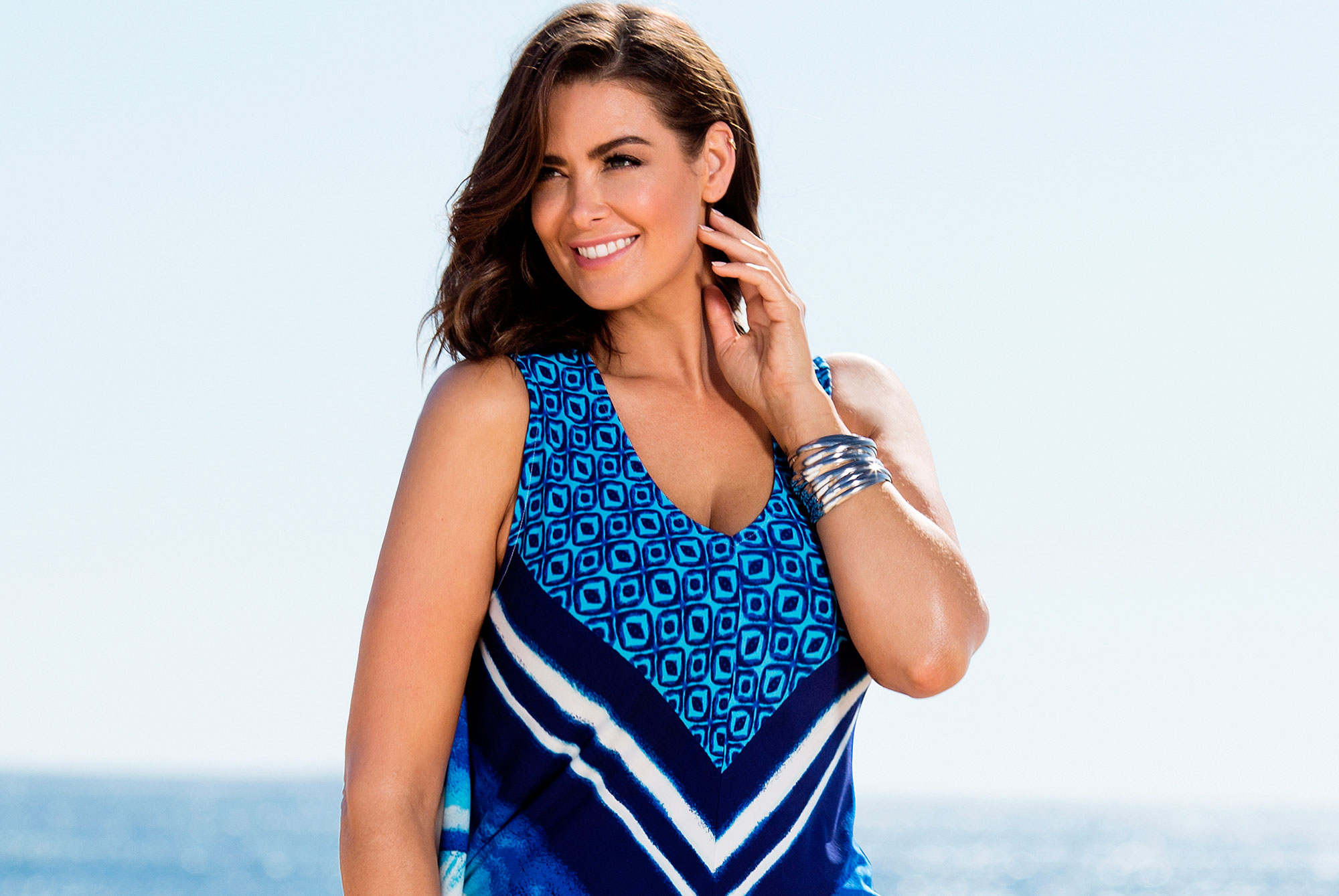 Summer Maxi Dresses: Behind the Scene for plus size fashion shoot