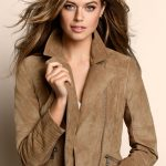 A great gift for a sister or a friend. Style 148034 in Suede - leather jacket