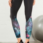 Fitness Workouts: Michelle Bridges Tropical Trim Leggings 3Q Style Number: 148947