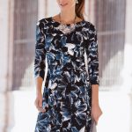 Together Printed Dress in Midnight Blue