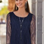 Together Lace Top in Midnight Blue