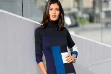 School Reunion Dressing - Capture European Colour Block Dress
