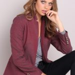 Pair this piece with structured dresses for formal events or dress it down with jeans, a tee and boots. Emerge Blazer Style Number: 151825