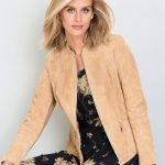 The Capture Suede Jacket that's the perfect fit on the shoulders and waist. Style 152184