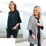 We love layering this cape with black jeans, black boots and a longline necklace.