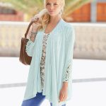 Together Lace Trim Cardigan style 154876