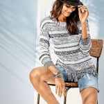 California Sun inspires this sweater and short combo. Style 157744