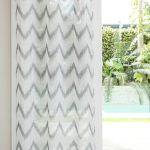 Gosling Embroidered Chevron Eyelet Curtain Pair