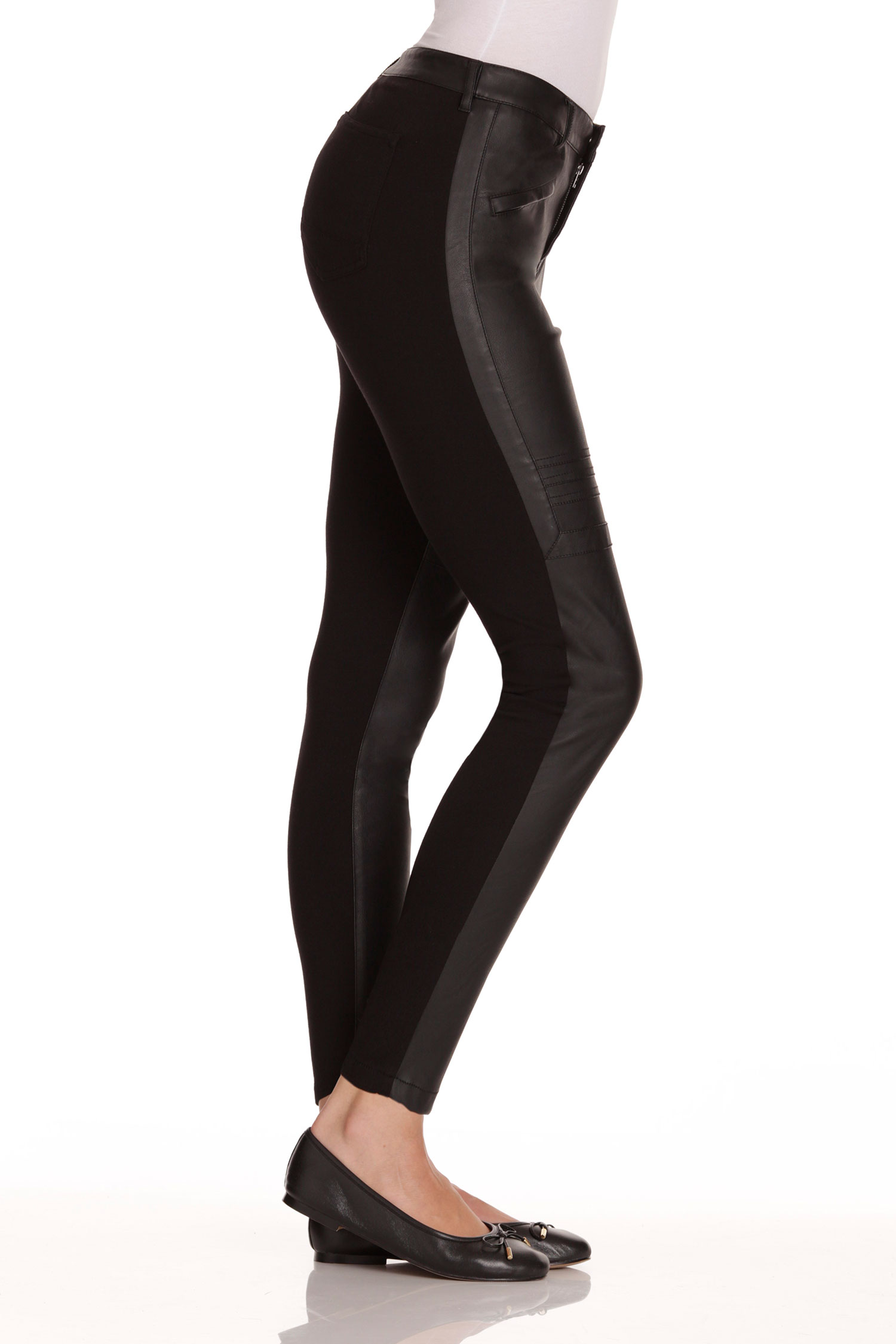 Emerge Faux Leather Front Pant
