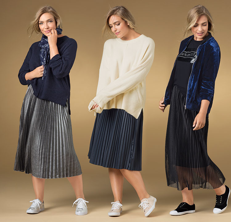 Slouchy knit for a relaxed look