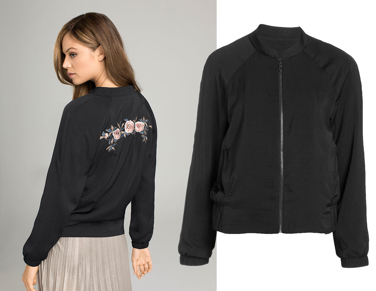 Luxe Style: go girly with embroidery. Shop the jacket.