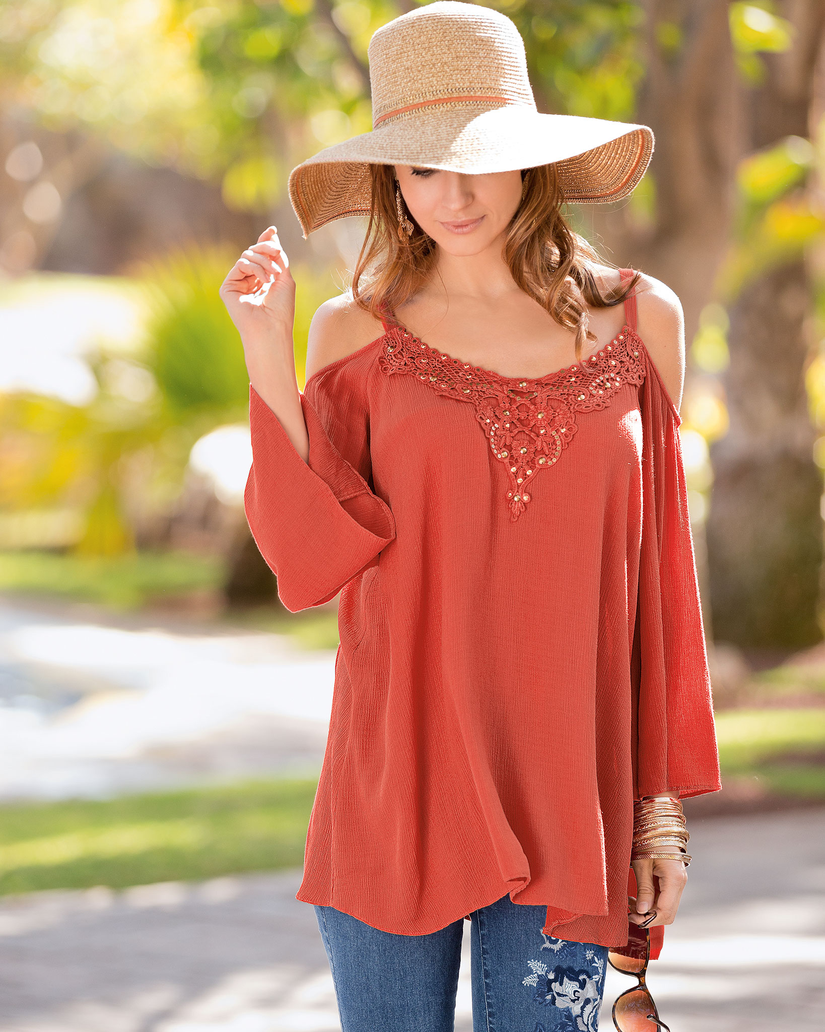 Perfect for holiday packing: Together Cold Shoulder Top
