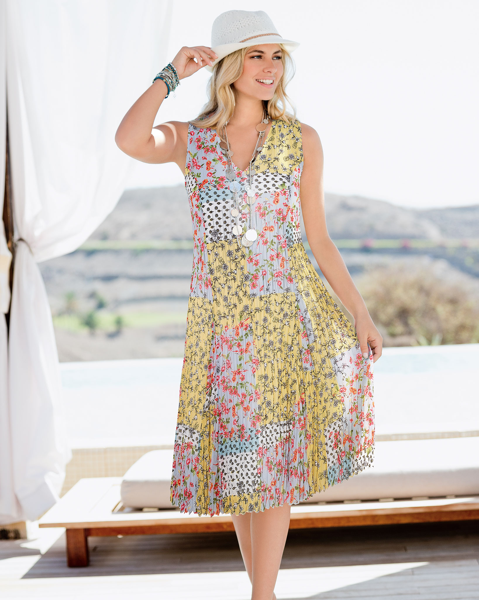 Perfect for holiday packing: Together Print Dress