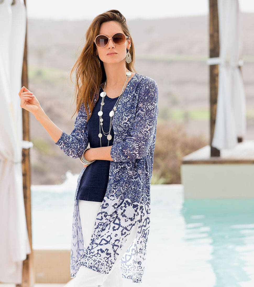 Looking for style tips? Shop Together Print Cardigan