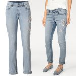 Mom jeans mixed with embroidery: Heine Embroidered Detail Jeans