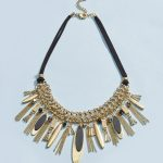 Next Black/Gold Tone Short Tassel Necklace