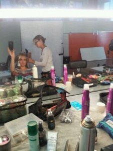 Studio day with a hair & make-up change