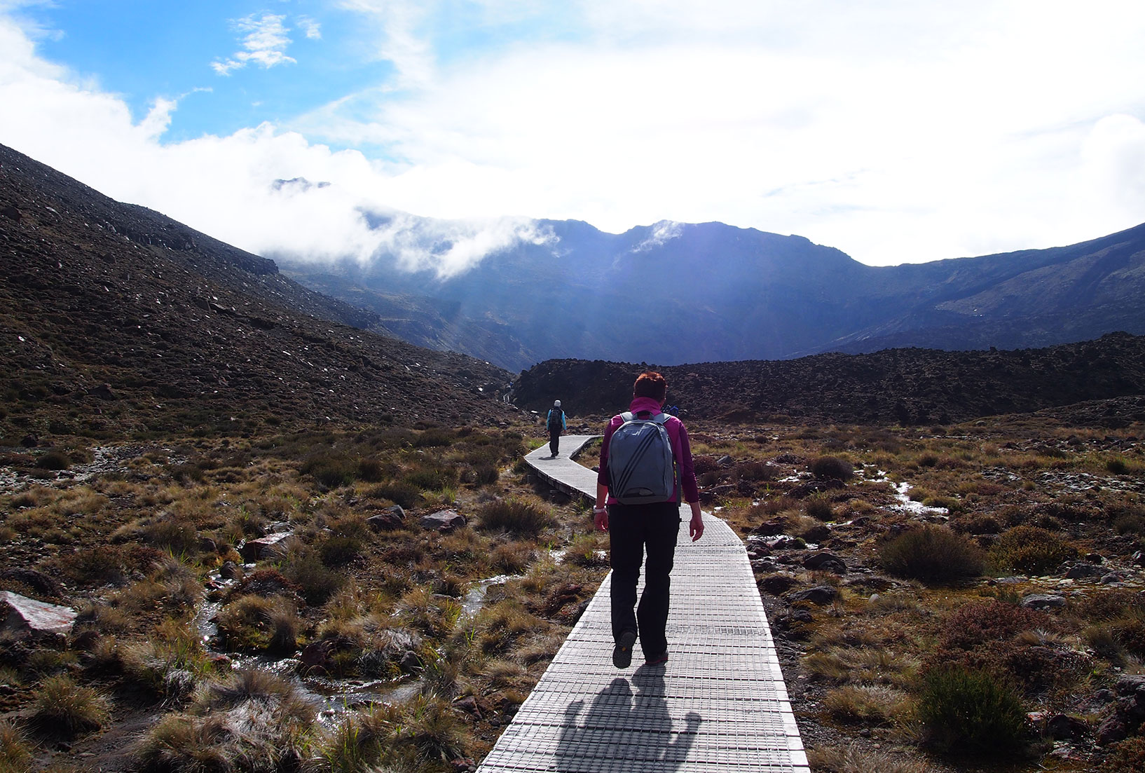 Take the Tongariro Crossing at your own speed. You can even eavesdrop on other people's conversations!