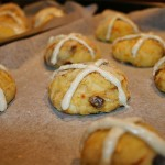 Divide into even portions, roll and add flour crosses