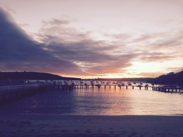 An early morning sunrise start at Balmoral Beach, Sydney