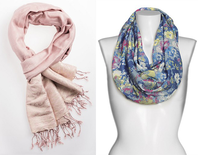 Left: Elisa Jaquard Scarf; Right: Next Floral Snood