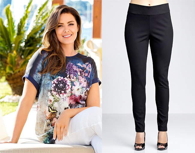 Sara Woven Front Tee | Sara Pull-on Jeggings