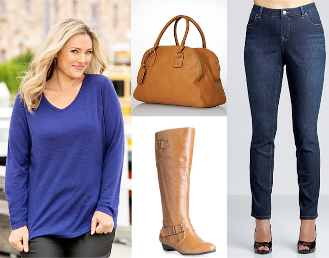 Tunic | Bag | Boots | Jeans