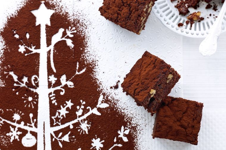 Fruit mince adds a lovely twist to a traditional brownie.