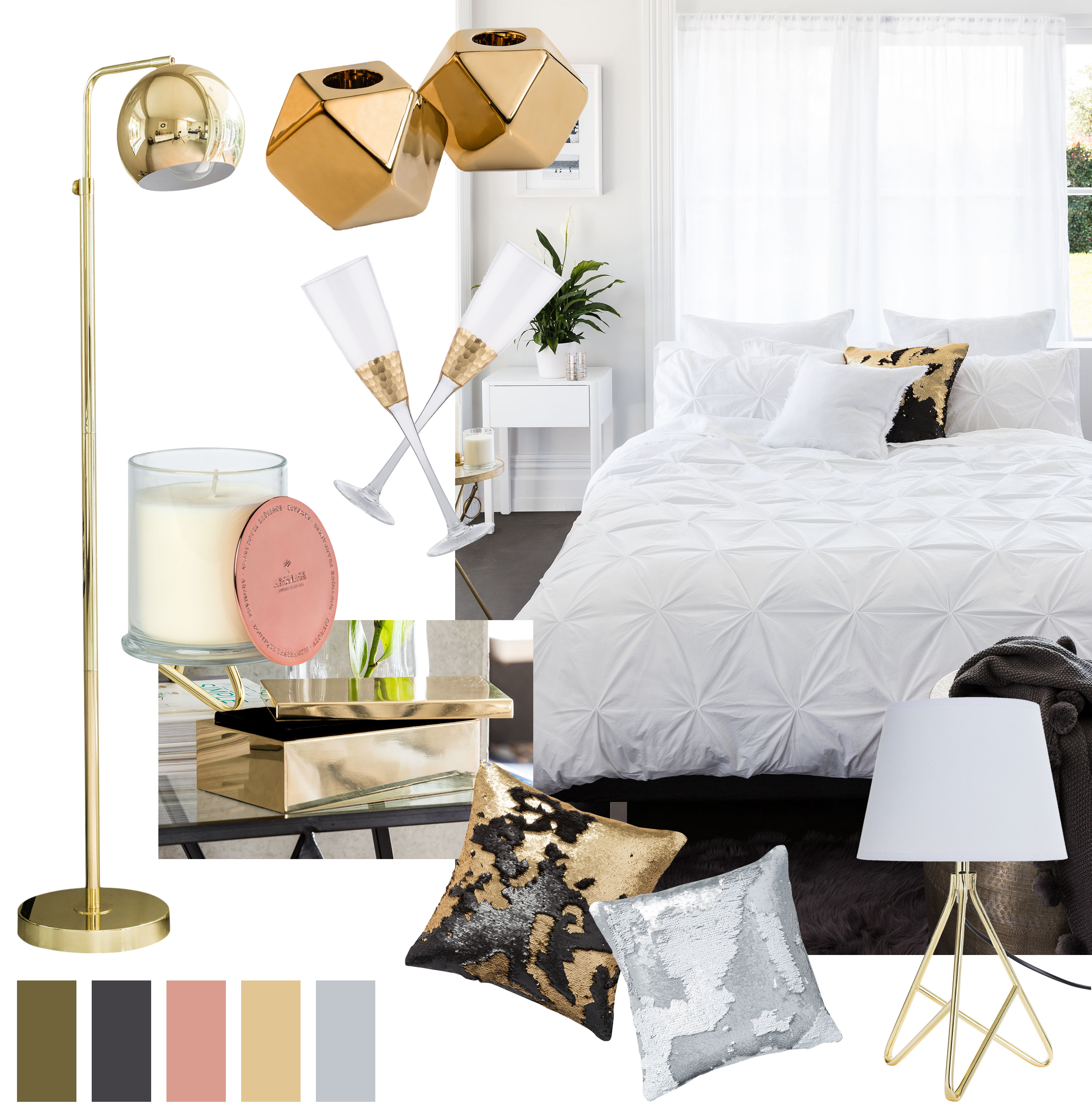 Metallic Accents Homewear Board