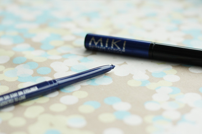 I'm using a Chi Chi pencil eyeliner and MIKI liquid liner, but you can use whatever you have!