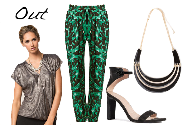 Printed pants - out