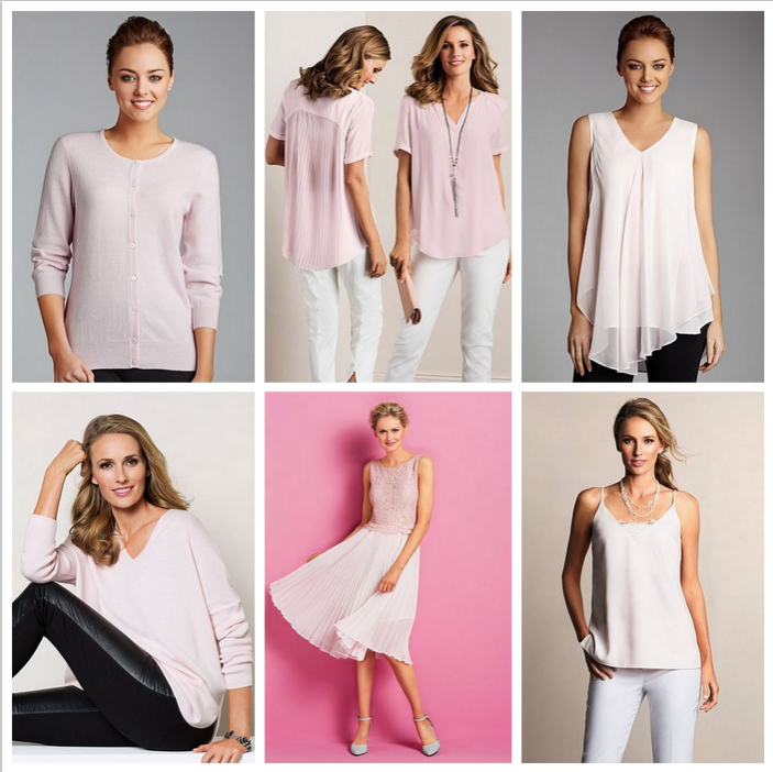 Powder Pink options from Grace Hill