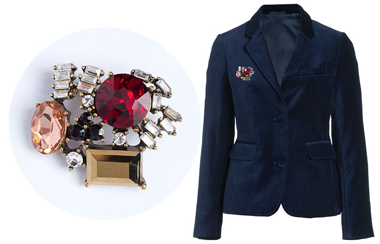 Blazer with the Brooch: get the brooch for $5 when you buy the Emerge Blazer