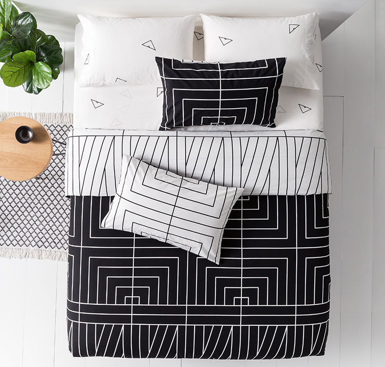 Stacey's favourite: The Cotton Coordinates Duvet Cover Set in Black & White