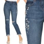 So on trend for Spring: Embroidered Distressed Jeans