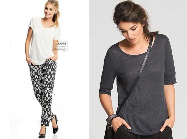Emerge linen tees and draped pants